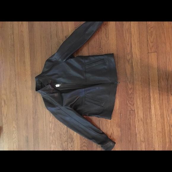 Michael Kors Other - Sleek Men's Michael Kors Brown Leather Jacket